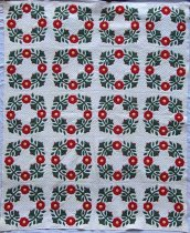 Image of Wreaths of Flowers quilt - Quilt