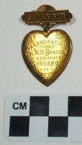Image of 1983.43.1 - William O. Bradley inaugural souvenir pin
