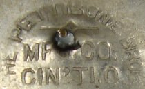 Image of Pettibone Brothers Manufacturing Co. mark (Wm. Goebel political button)