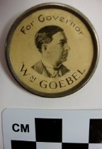 Image of William Goebel for Governor, political pin - Button, Political