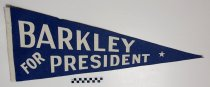 Image of Alben Barkley for President pennant - Pennant