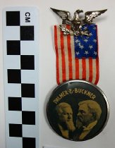Image of Palmer/Buckner political button and ribbon