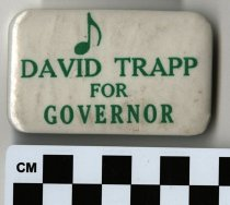 Image of DAVID TRAPP FOR GOVERNOR political button