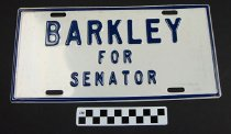 Image of Barkley for Senator license plate - Plate, License
