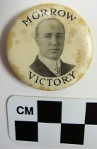 Image of Edwin P. Morrow political button - Button, Political