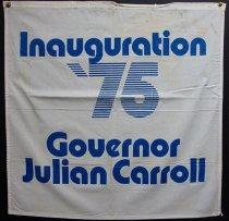 Image of Julian M. Carroll inaugural banner