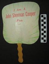 Image of 1998.32.3 - political fan, John Sherman Cooper