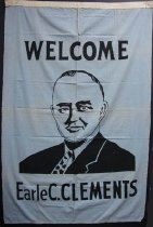 Image of KM2012.19.7 - Welcome Earle C. Clements banner