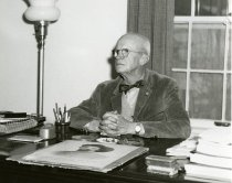 Image of Allan M. Trout at Desk