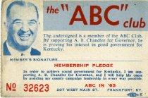Image of ABC club [membership card]