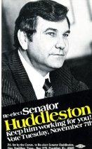 Image of Re-elect Senator Huddleston [political card] -