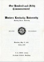 Image of WKU Commencement Program - Registrar (WKU)