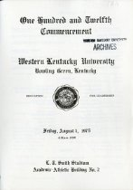 Image of WKU Commencement Program - Registrar (WKU)