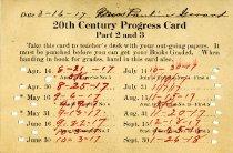 Image of 20th Century Progress Card  - Registrar (BGBU)