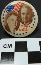 Image of Truman & Barkley photo pin - Button, Political