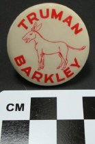 Image of Truman and Barkley political button - Button, Political