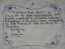 Image of A Picture Book quilt (label)