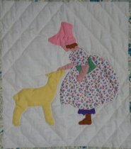 Image of A Picture Book quilt (Mary Had a Little Lamb)