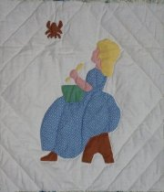 Image of A Picture Book quilt (Little Miss Muffett)