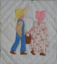 Image of A Picture Book quilt (Jack and Jill)