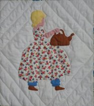 Image of A Picture Book quilt (probably Polly put the kettle on)