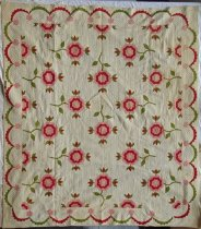 Image of KM2012.35.1 - Rose of Sharon quilt