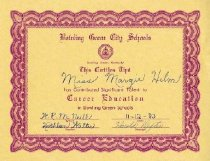 Image of Career Education contribution certificate -