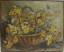 Image of KM2012.48.3 - Basket of Daisies