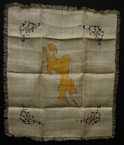 Image of KM2012.49.2 - World War II textile souvenir from the Philippines
