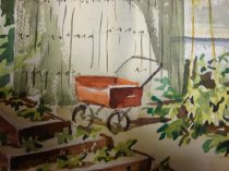 Image of Dorothy Grider watercolor (detail)