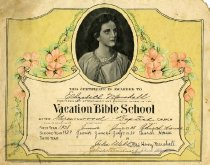 Image of Vacation Bible School attendance certificate - Baptist Sunday School Board