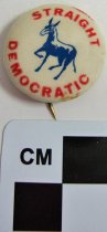 Image of 1971.1.12 - Straight Democrat political button