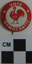 Image of Vote Democrat political button - Button, Political