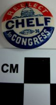 Image of 1971.1.34 - Re-Elect Chelf to Congress political button