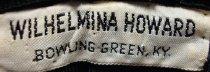 Image of Wilhelmina Howard hat label