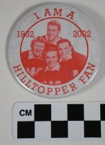 Image of 2002.88.1 - Hilltoppers fan button