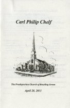 Image of Carl Philip Chelp [memorial program] - Burnam & Son Mortuary, Inc.