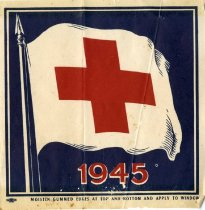 Image of 1945 Red Cross Window Sticker -