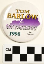 Image of KM2013.27.1 - Tom Barlow political button