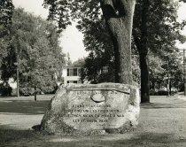 Image of Historic Landmark Marking The Minute Men Line On April 19, 1775
