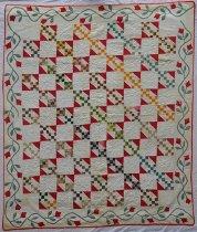 Image of KM2013.34.1 - Jacob's Ladder variation quilt