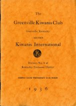 Image of The Woman's Club, Greenville, Ky. [program annuals] -