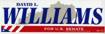 Image of David L. Williams [campaign bumper sticker] -