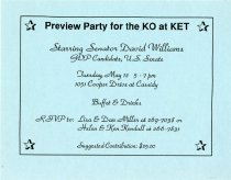 Image of [David Williams candidacy reception invitation] -
