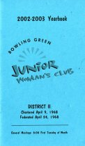Image of Bowling Green Junior Woman's Club 2002-2003 Yearbook -