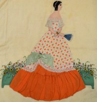Image of Godey Quilt Block (detail)