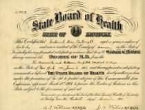 Image of Certificate of Authority to Practice Medicine -
