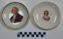 Image of George and Martha Washington plates - Souvenir
