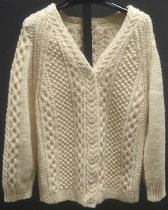 Image of Hand-knitted cardigan - Cardigan