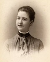 Image of Woman with High Collar -